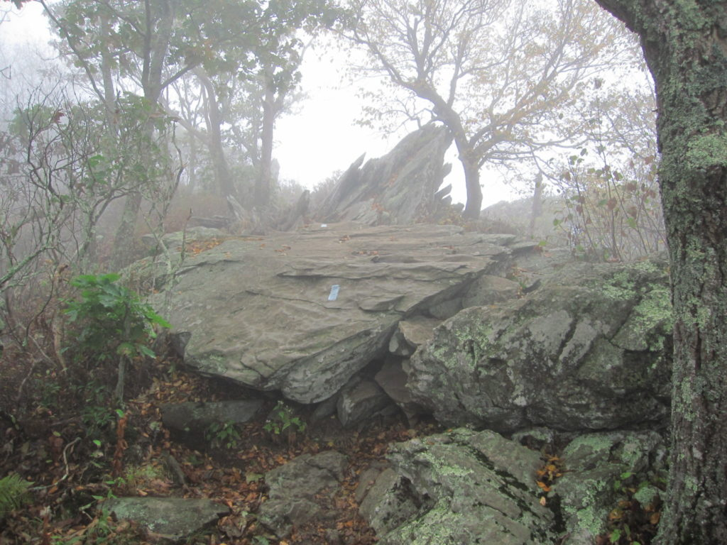 The beginning of the rock scramble
