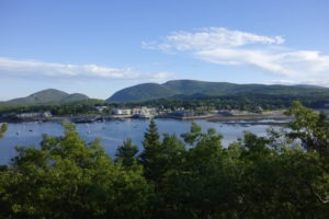 View of Bar Harbor from Bar Island