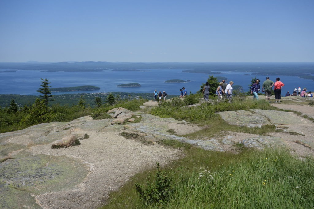 Crowd on Cadillac Mountain