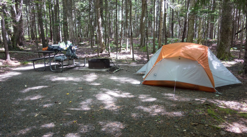 Acadia: Seawall Campground Site