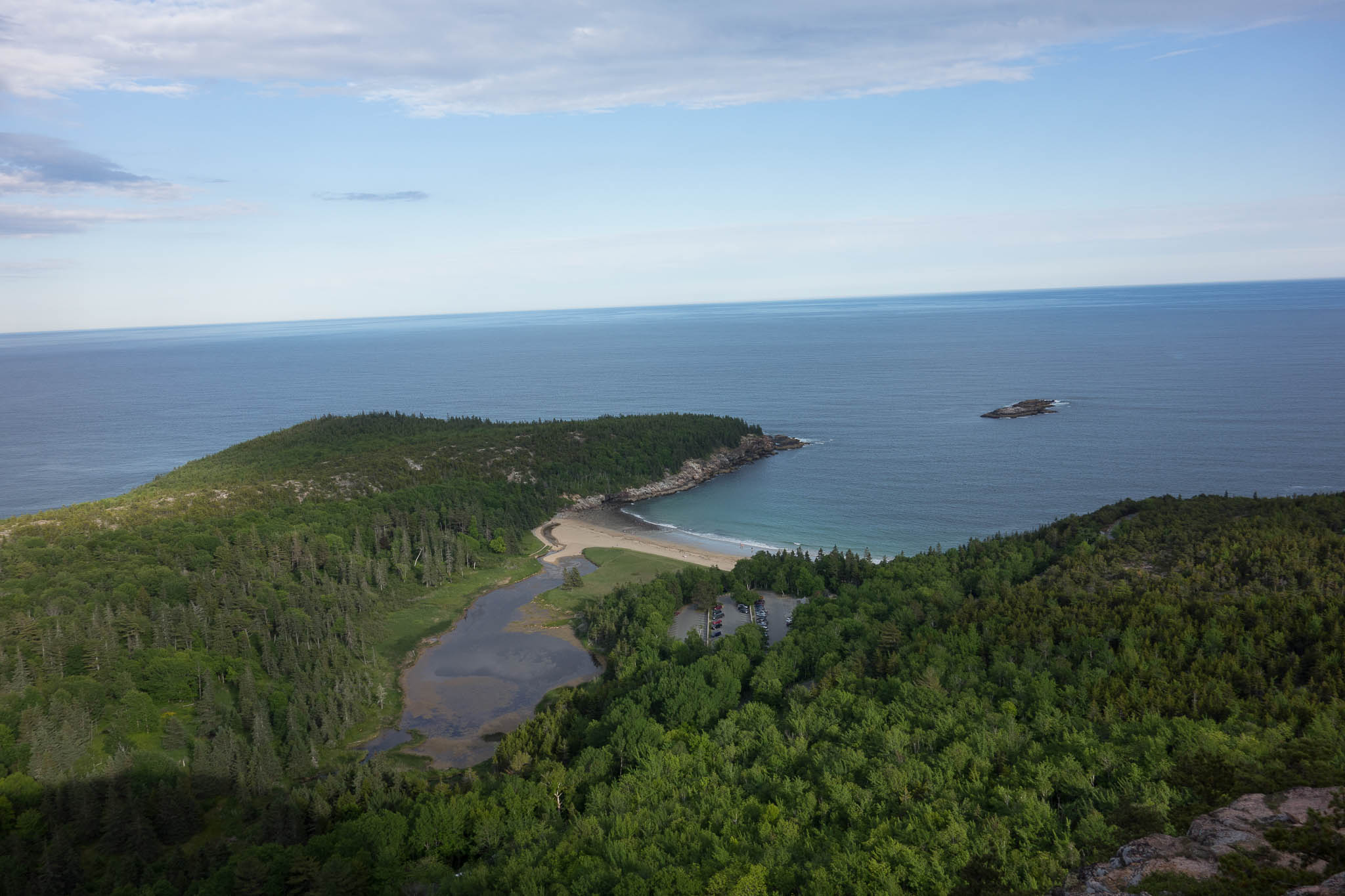 Acadia: View of Sand Beach from Beehive