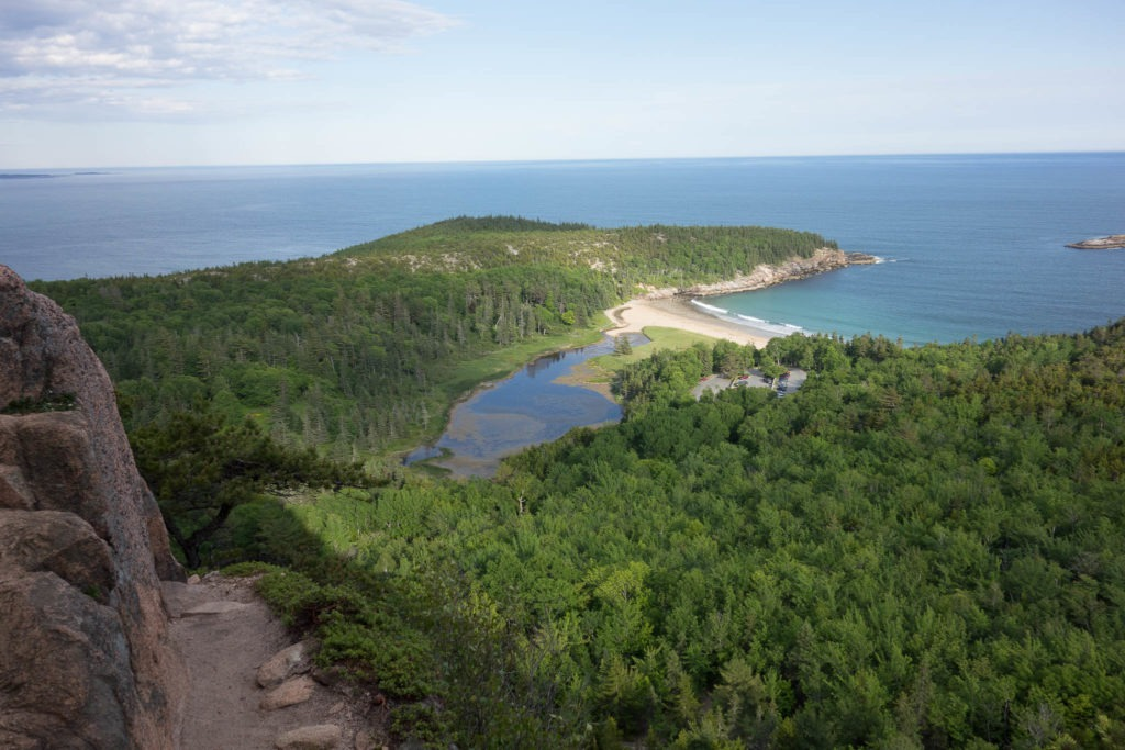 Acadia: Sand Beach from Beehive Trail