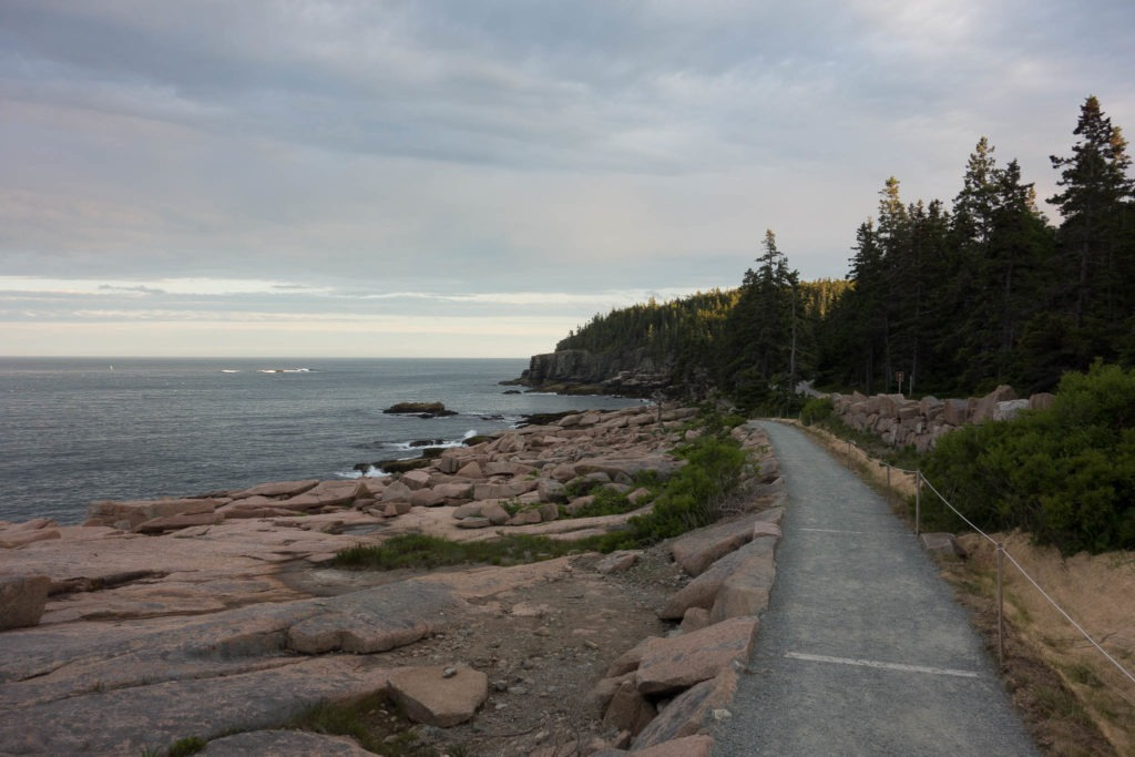 Acadia: Walking on the Ocean Path