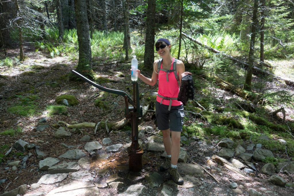 Acadia: K with Duck Harbor Campground water pump