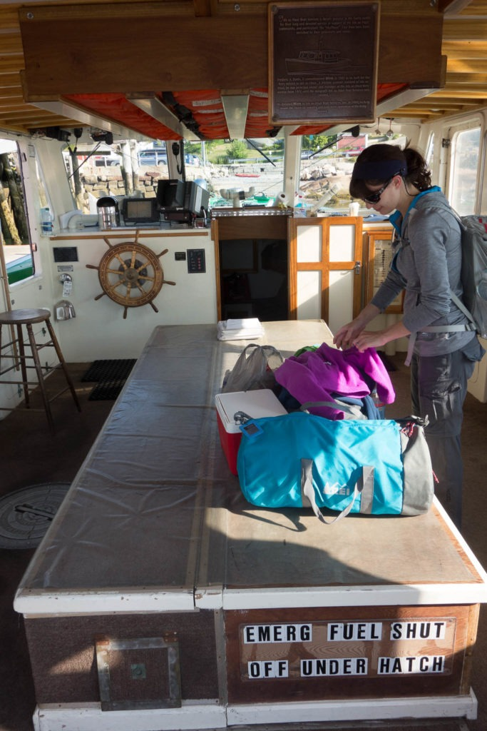 Acadia: Inside Isle au Haut Mailboat
