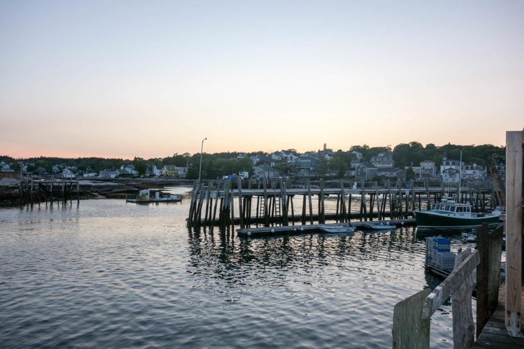 Acadia: View of Stonington from Pier