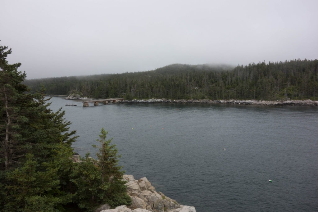 Acadia: View of Duck Harbor from Eben's Head
