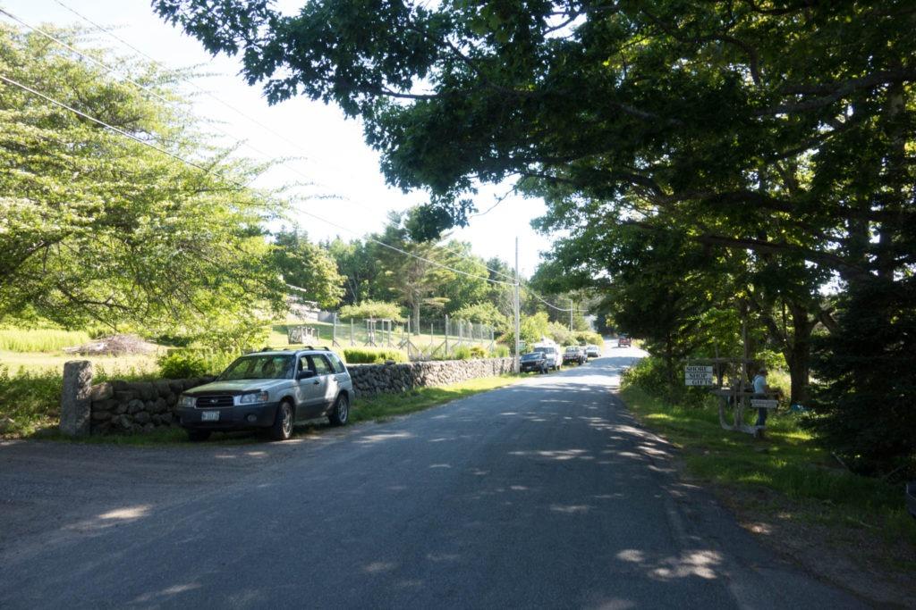 Acadia: View of Main Road in Isle au Haut Town