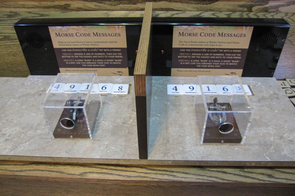 Acadia: Schoodic Institute Morse Code Exhibit