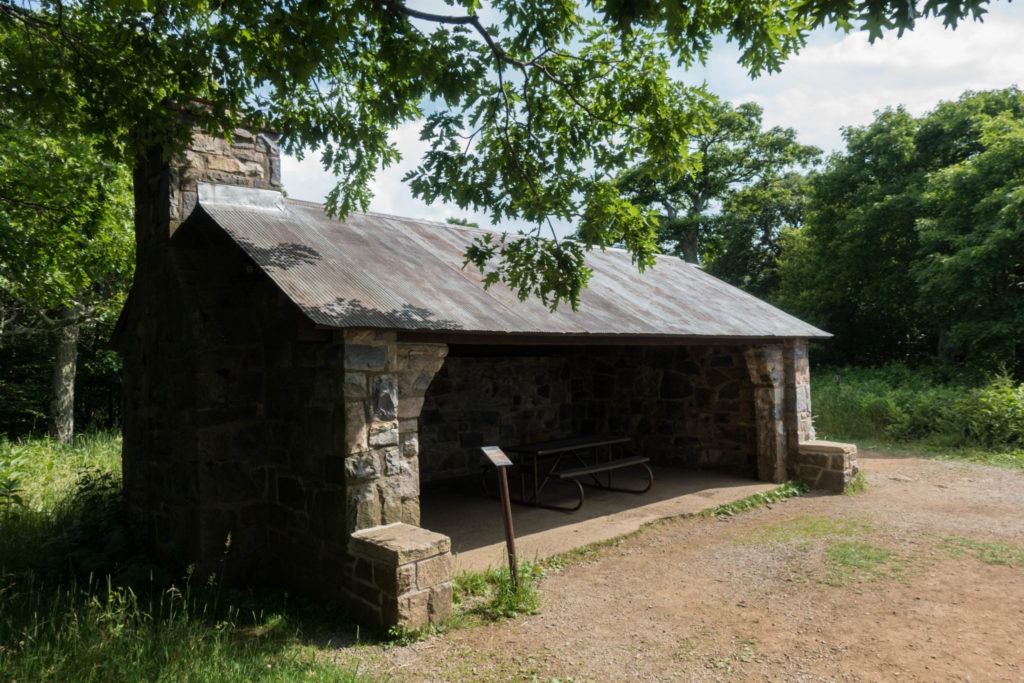 Shenandoah: Byrd's Nest Shelter #2 at Hawksbill Summit