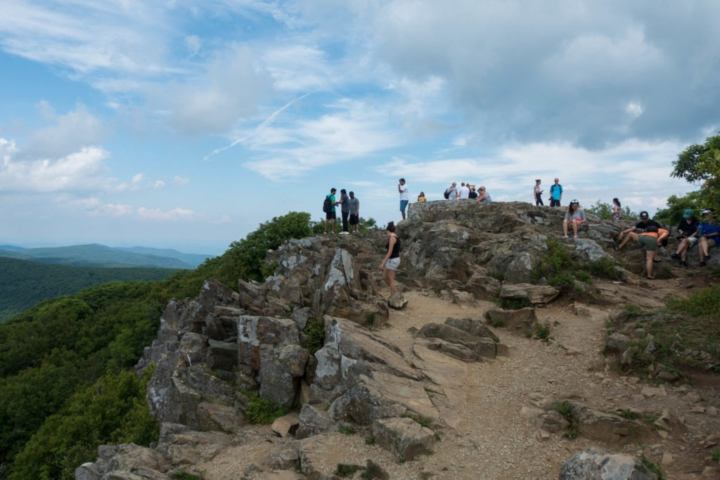 Shenandoah: Crowd on Hawskbill Mountain