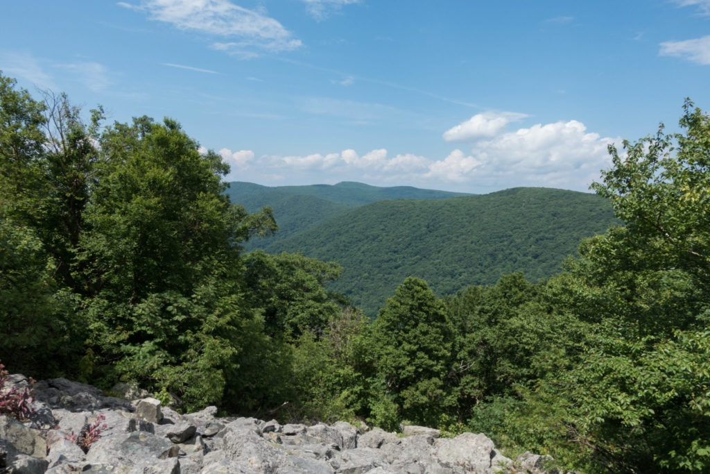 Shenandoah: View out from Talus Field