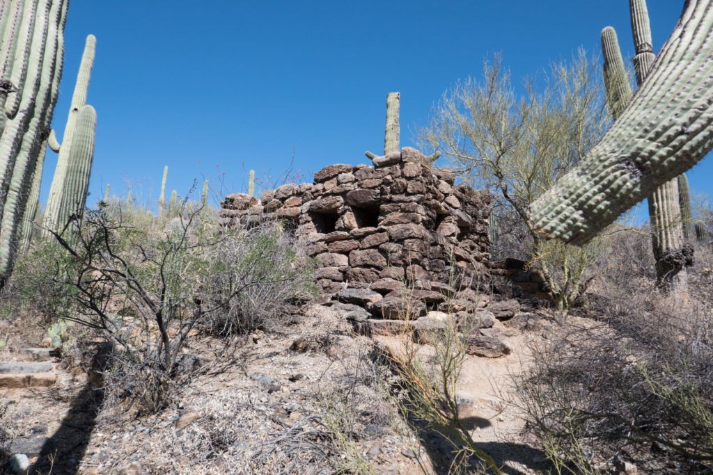 Saguaro: Old Stone Restroom near Mam-A-Gah