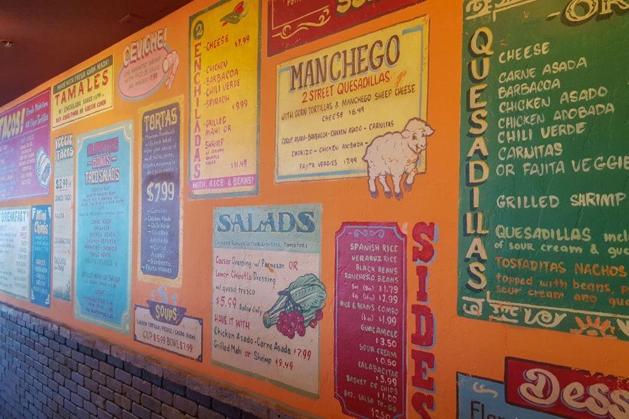 Saguaro: Calle Tepa Menu