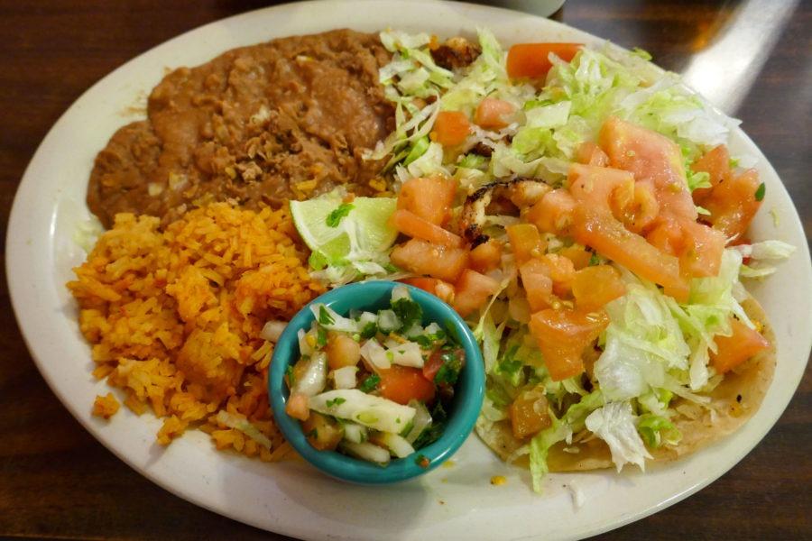 Saguaro: Los Nopales shrimp tacos