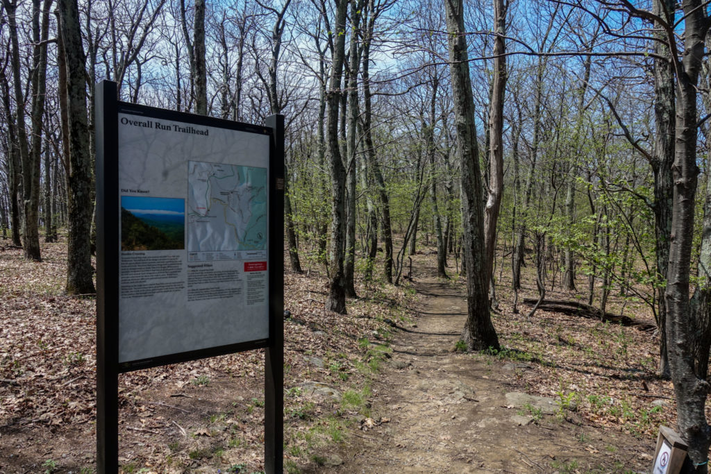 Shenandoah: Overall Run Trailhead Sign