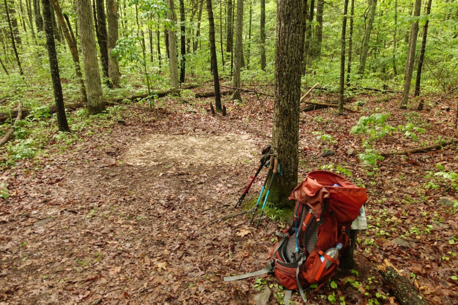 Shenandoah: Campsite on Overall Run After Rain