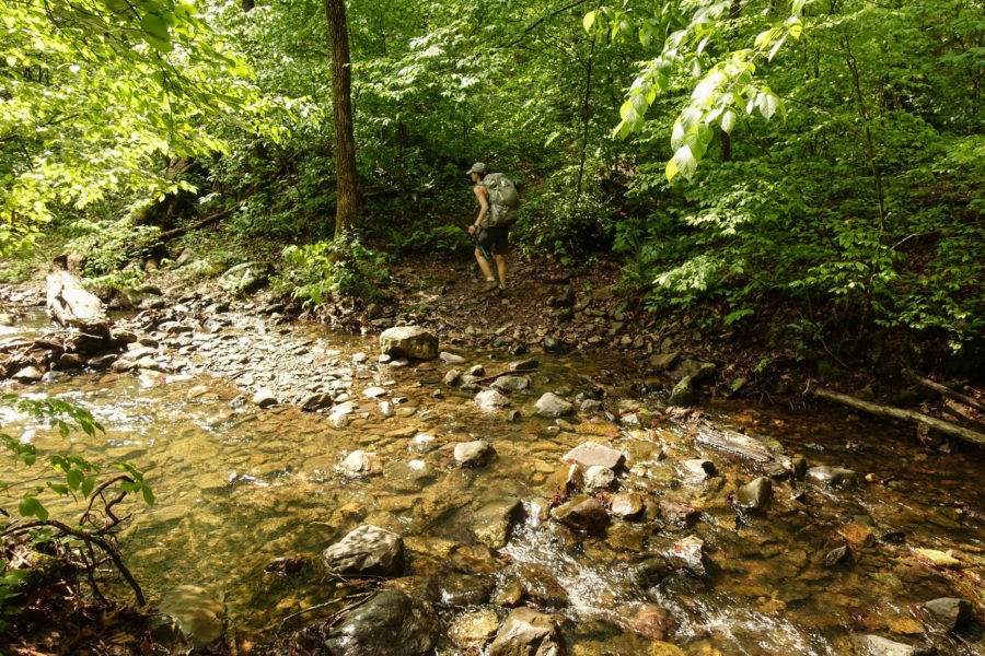 Shenandoah: Stream Crossing on Overall-Beecher Connector Trail