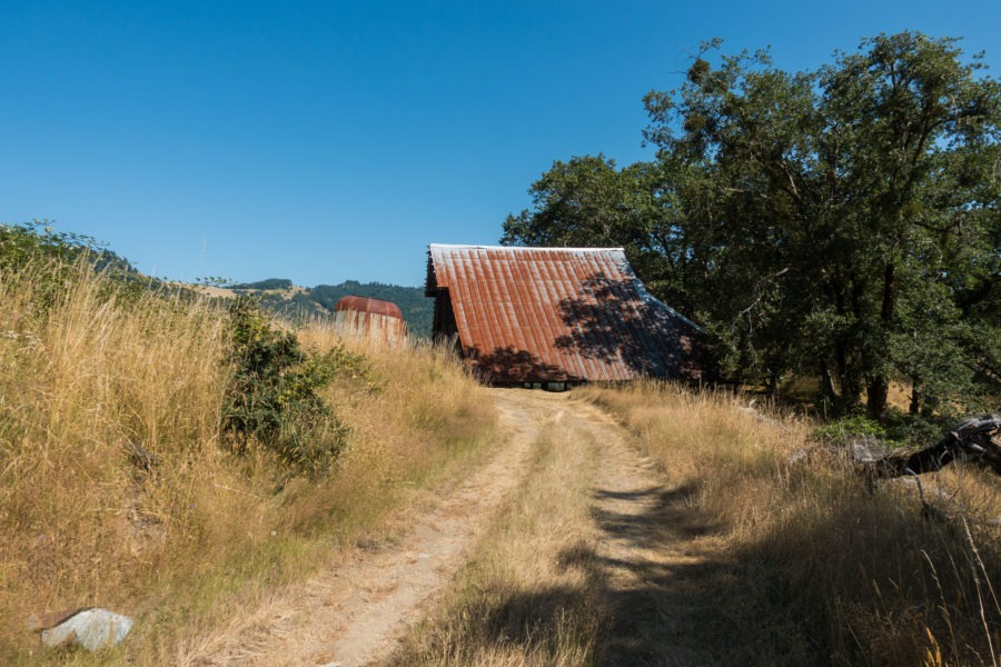Redwood: Long Ridge Sheep Shed From Ranch Road