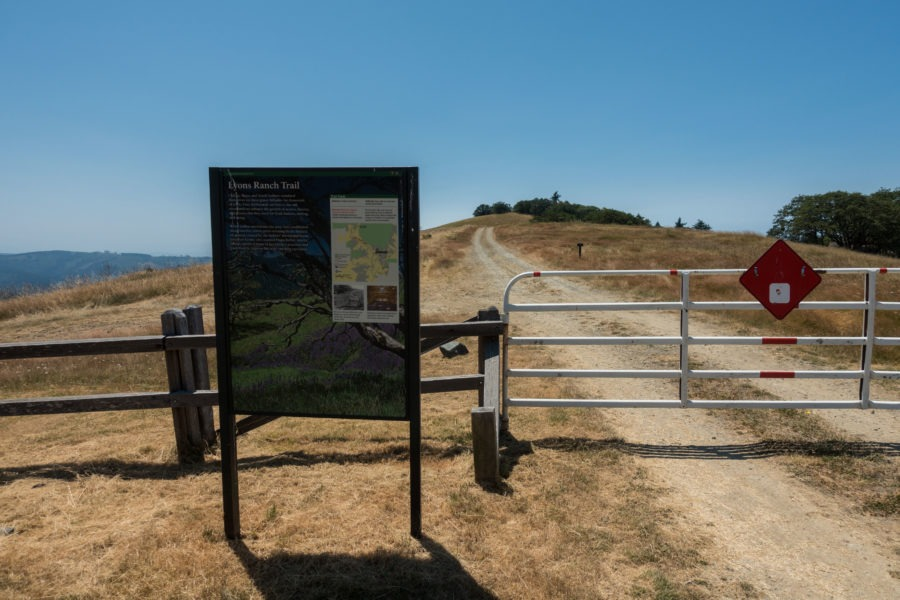 Redwood: Lyons Ranch Trailhead Sign