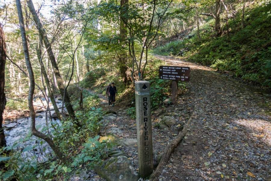 Shenandoah: Rose River Loop Trail Sign