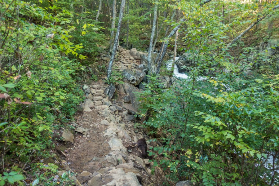 Shenandoah: Stone Stairs Before Rose River Falls