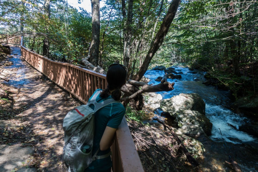 Shenandoah: Taking a look at the top of Upper Dark Hollow Falls
