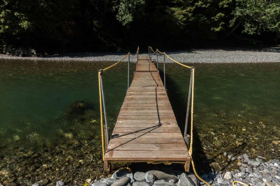 Redwood: Seasonal Bridge Crossing Redwood Creek
