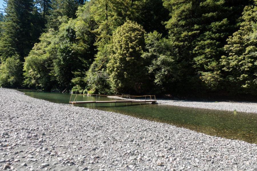 Redwood: Seasonal Bridge Across Redwood Creek