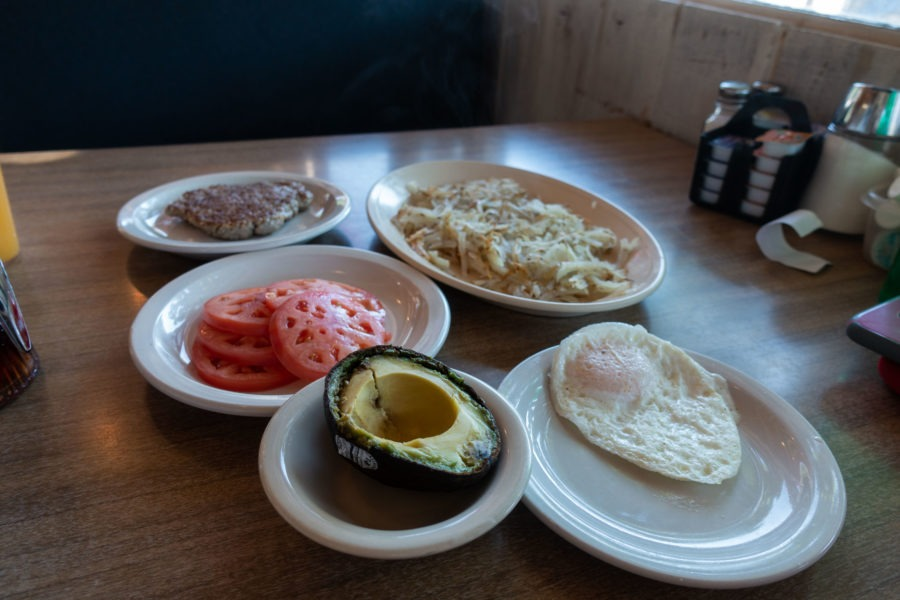 Redwood: Breakfast Items at Hiouchi Cafe