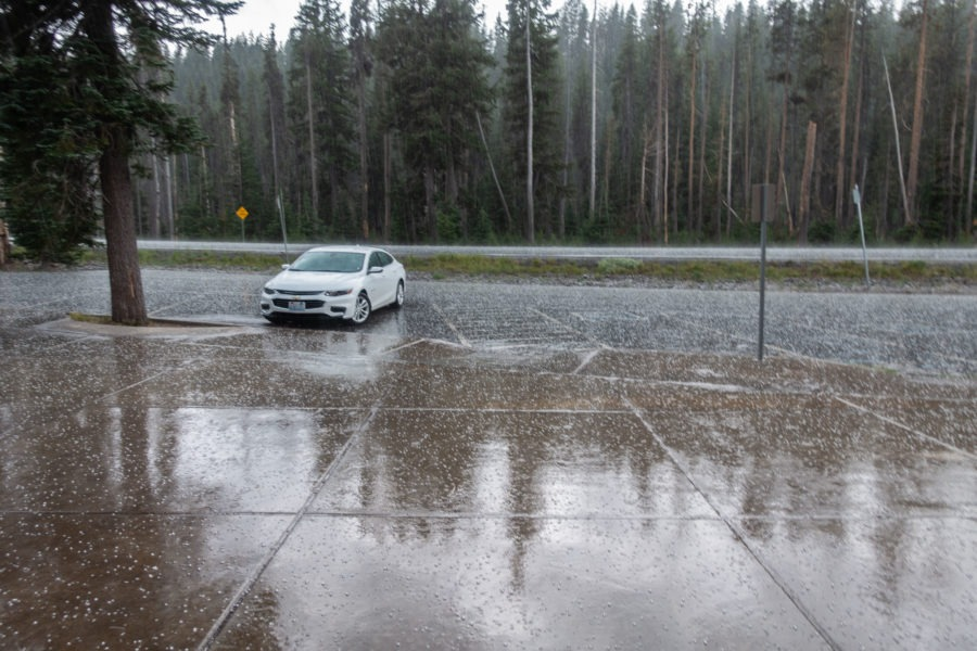 Crater Lake: Hail at Mazama Campground