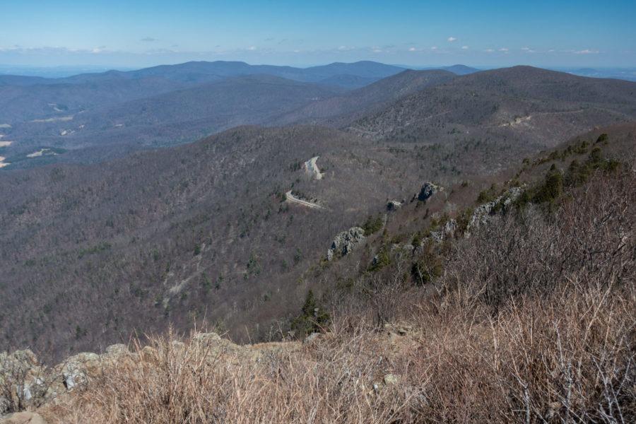 Shenandoah: View of Stony Man Overlook from Stony Man Summit