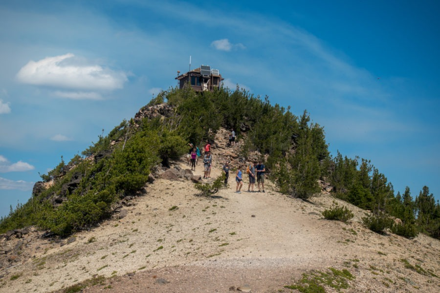 Crater Lake: Approaching the Fire Tower on Mount Scott