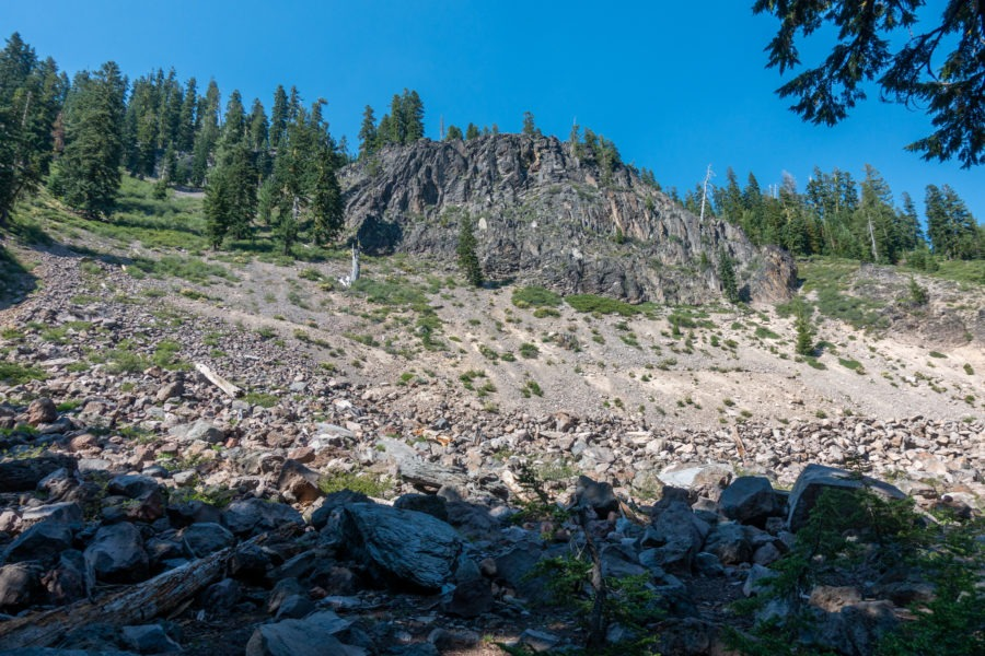 Crater Lake: Rocky Outcropping Along Plaikni Falls Trail