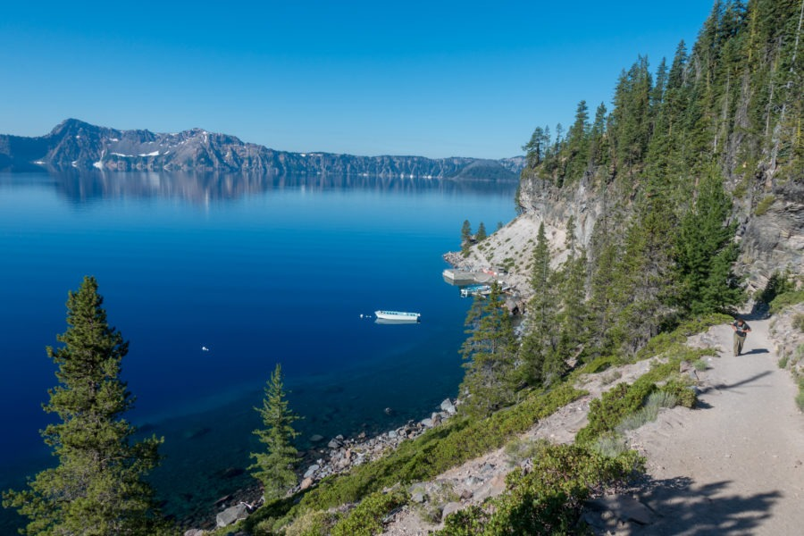 Crater Lake: Boat dock from Cleetwood Cove Trail