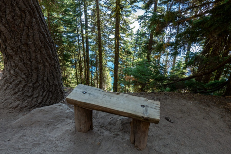 Crater Lake: Bench on Cleetwood Cove Trail