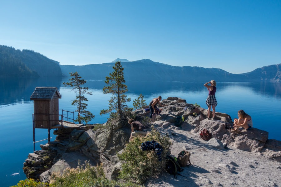 Crater Lake: Popular Outcropping on Crater Lakeshore