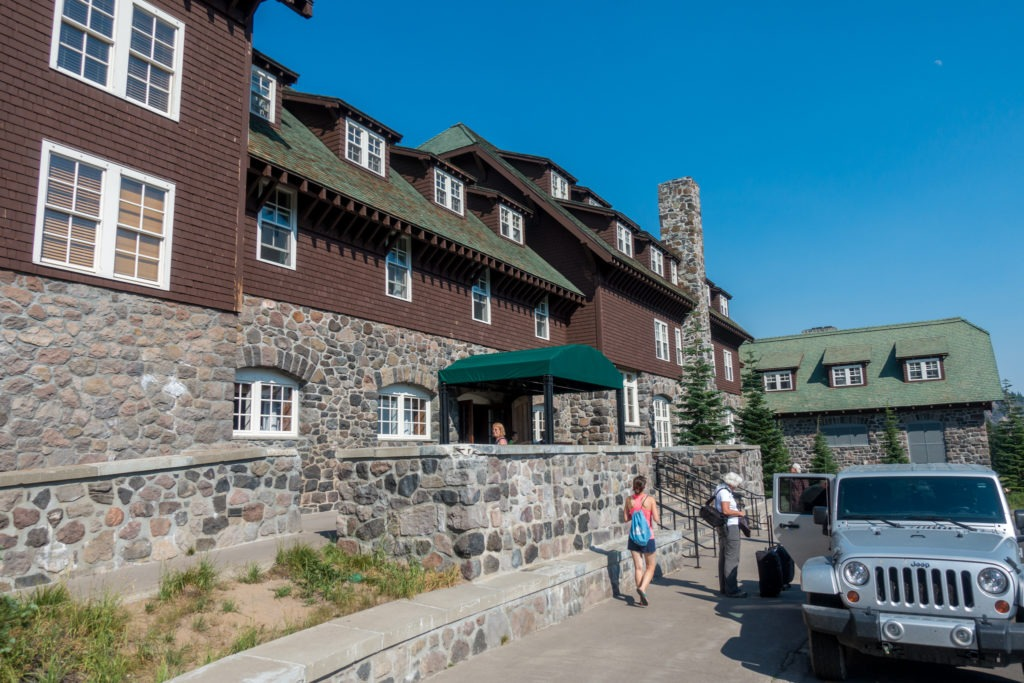 Crater Lake: Front of Crater Lake Lodge
