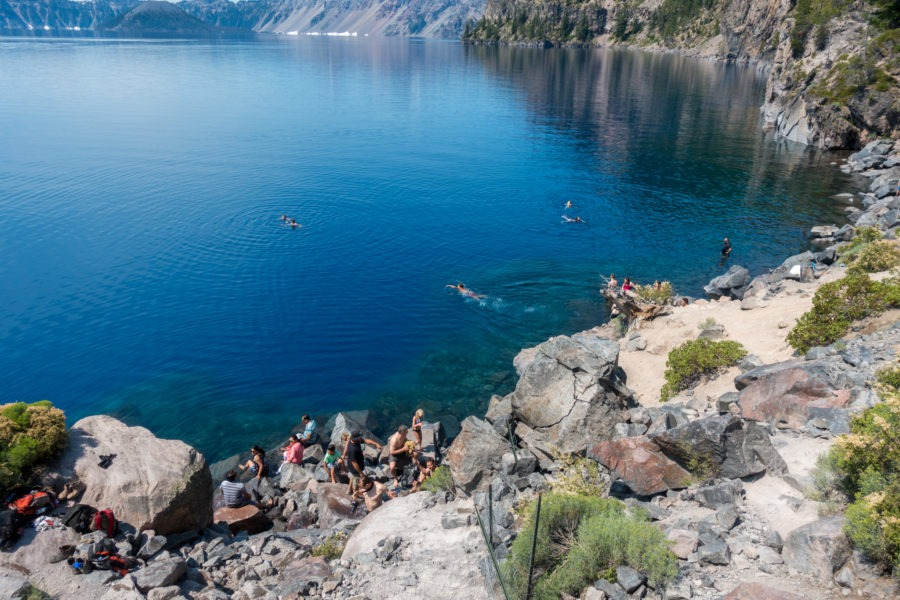 Crater Lake: One of the Swimming Areas Around the Boat Dock