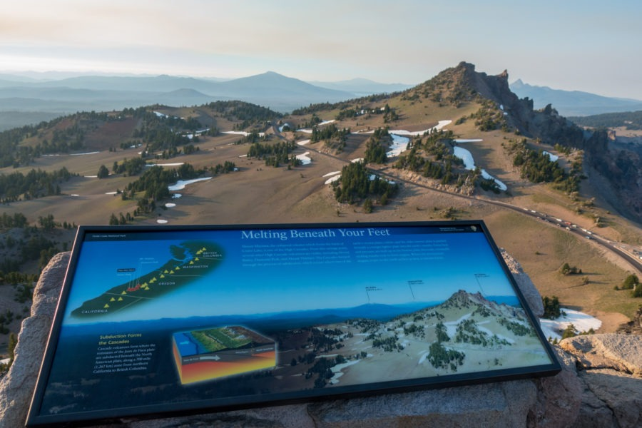 Crater Lake: Informational Signs at Top of Watchman Peak