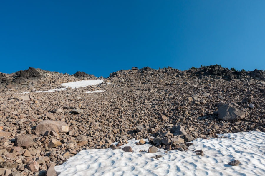 Crater Lake: Watchman Peak Lookout From Below