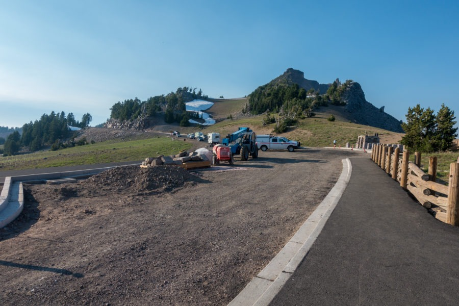 Crater Lake: Watchman Peak Parking During Construction
