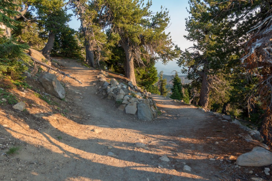 Crater Lake: Switchback on Watchman Peak Trail