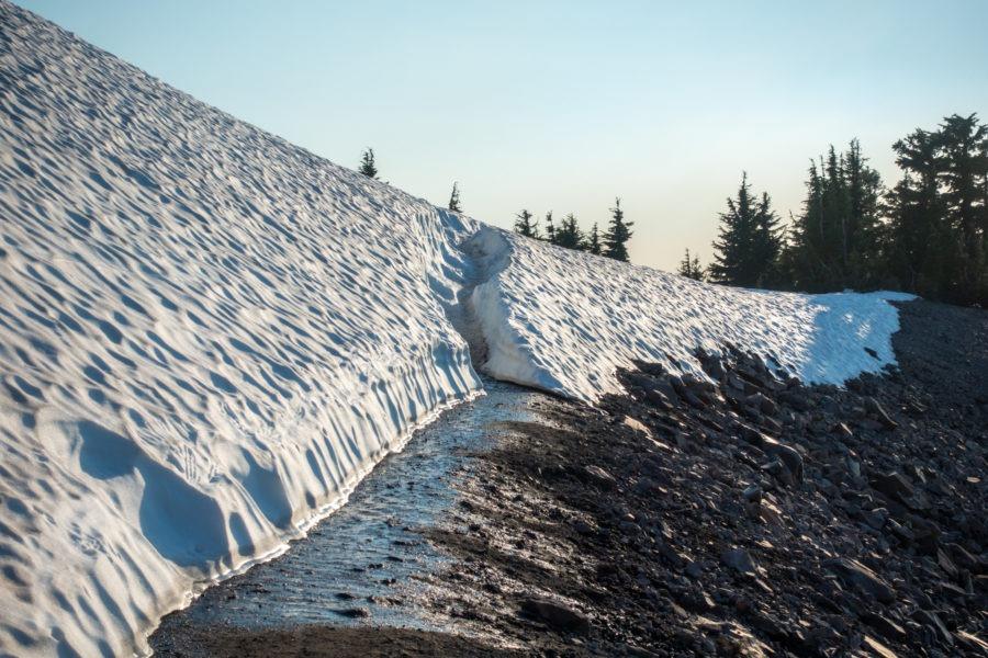 Crater Lake: Snow on Watchman Peak Trail