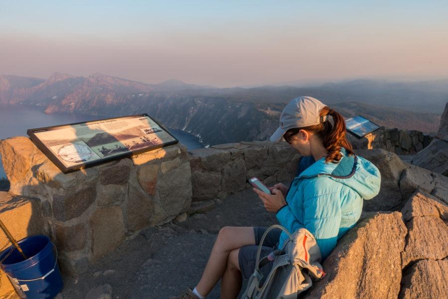 Crater Lake: Waiting For Sunset on Watchman Peak