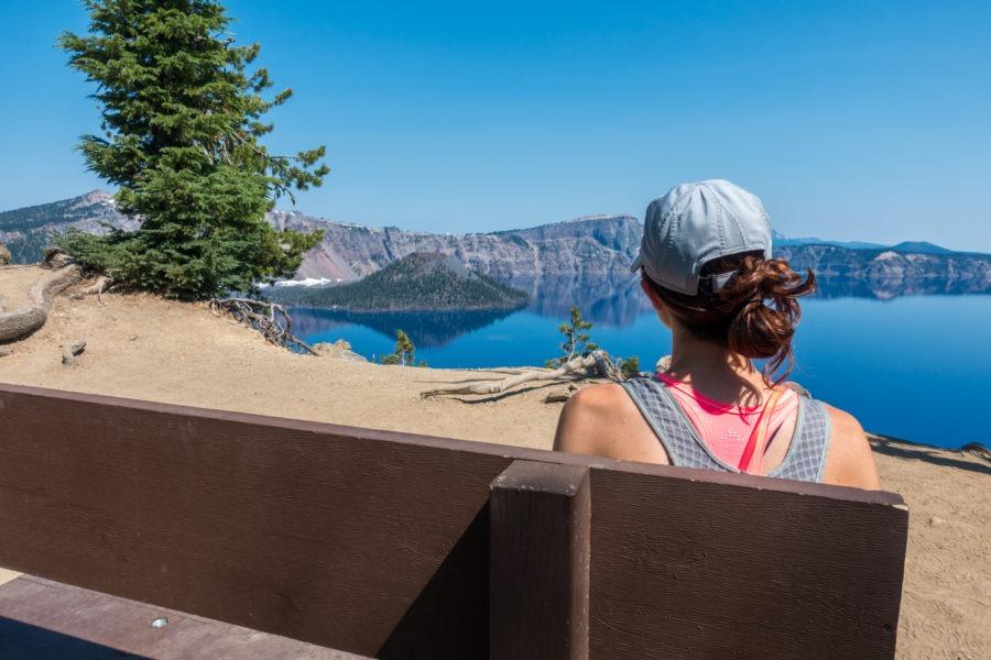 Crater Lake: Bench Along Garfield Peak Trail