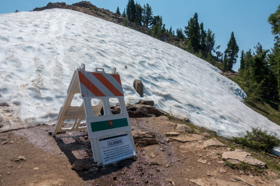 Crater Lake: Garfield Peak Trail Closed Because of Snow