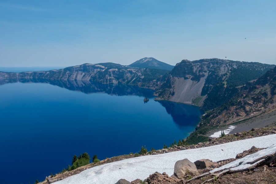 Crater Lake: View of Lake and Phantom Ship from Garfield Peak Trail