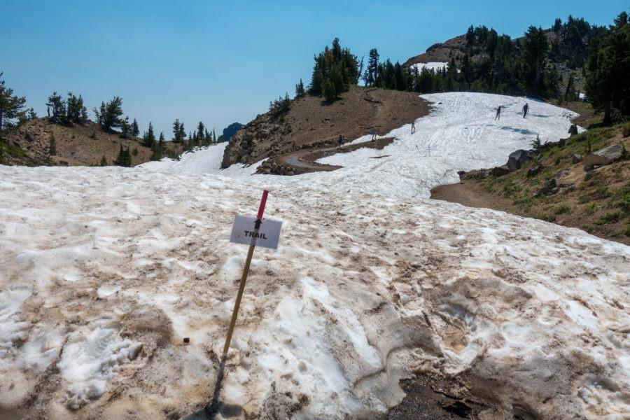 Crater Lake: Snowfield On Garfield Peak Trail