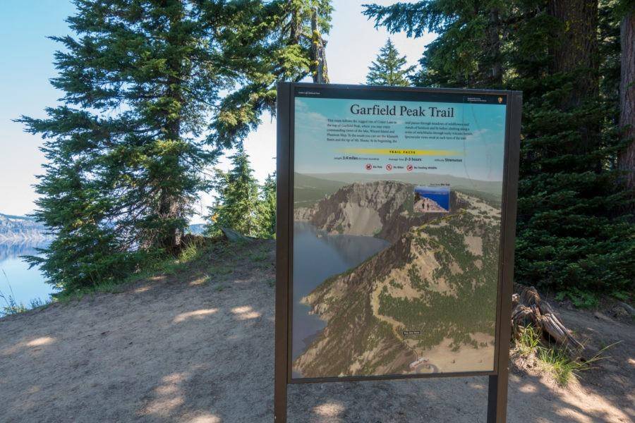 Crater Lake: Garfield Peak Trail Sign